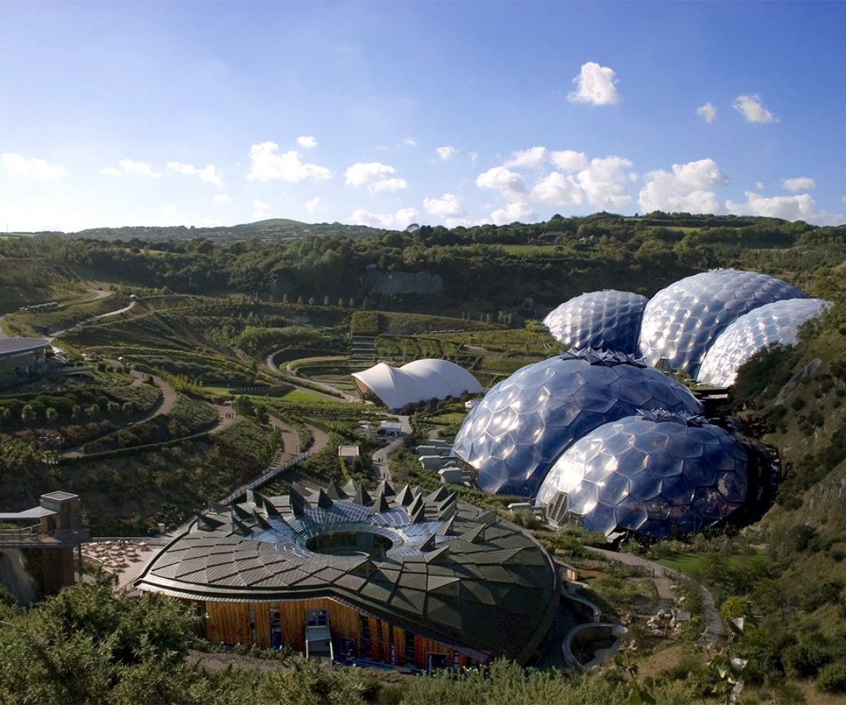 Eden Project on sunny day.